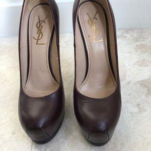 Saint laurent burgundy pumps, high heel